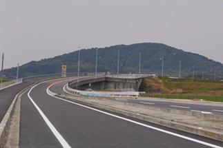 有明海沿岸道路・県道江北芦刈線 開通の写真