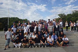 広島平和記念公園集合写真