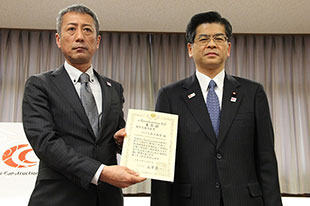 石井 啓一 国土交通大臣と弊社社長
